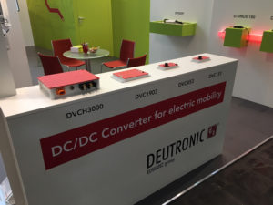 HMI 2018 Messestand Converter 300x225 - The HMI 2018 is all about electro mobility for Deutronic