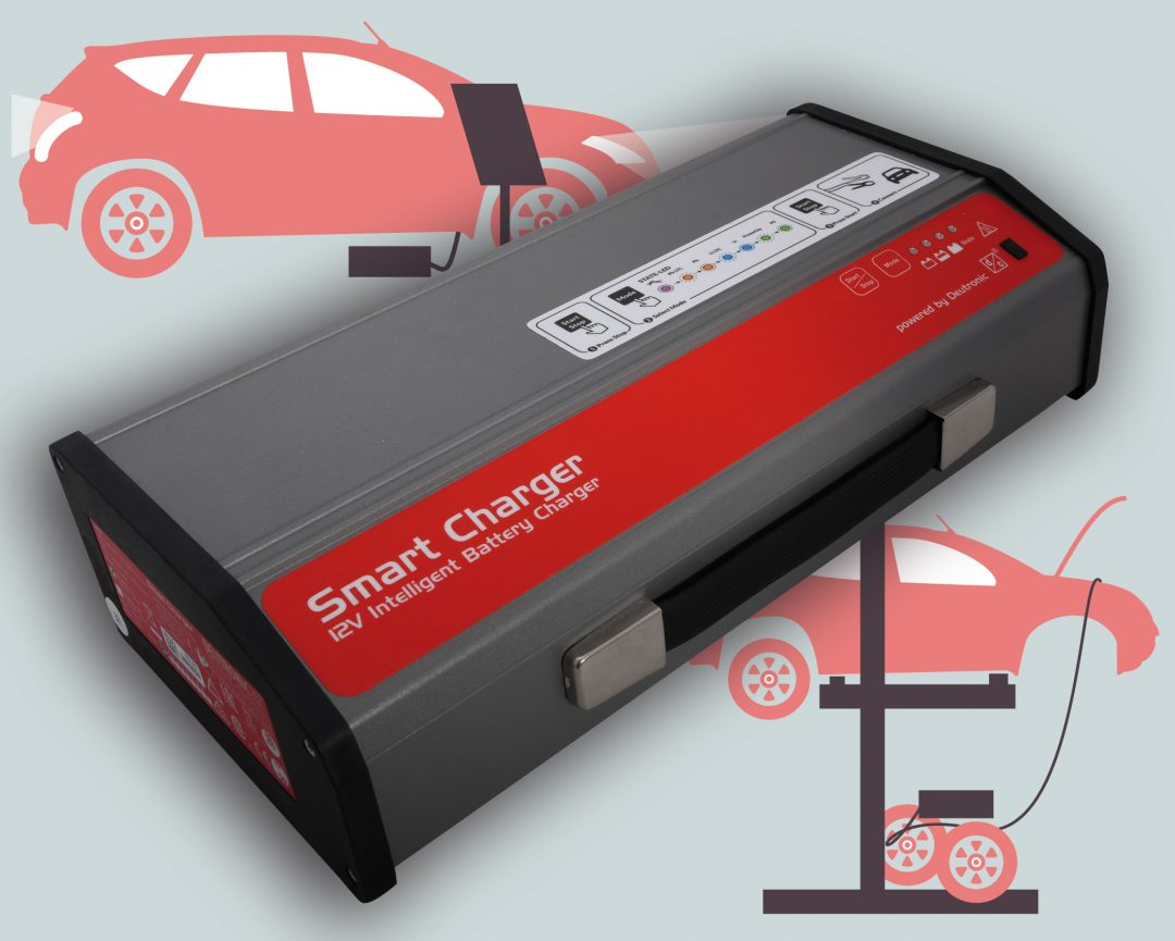 SmartCharger 300 14 - Veröffentlichung von publish-industry über Deutronic-Batterieladegeräte für Werkstatt und Showroom