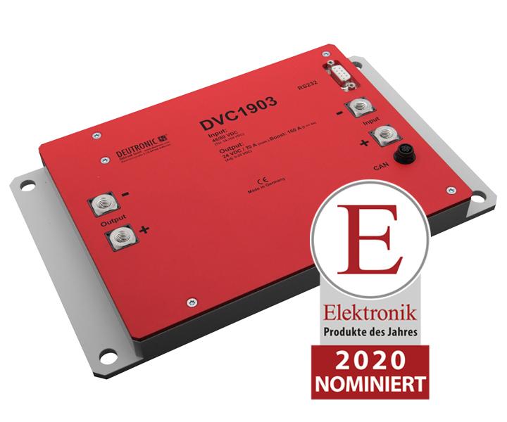 """DVC 1903 70 PdJ - """"Produkt des Jahres 2020"""" bei der Zeitschrift Elektronik nominiert (DVC853 und DVC1903)"""
