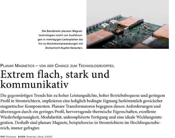 Extrem flach, stark und kommunikativ (Veröffentlichung von publish-industry)